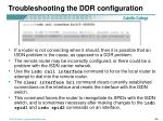 troubleshooting the ddr configuration4
