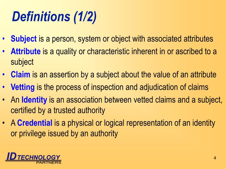 Definitions (1/2)