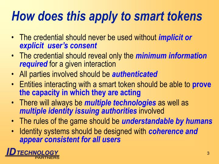 How does this apply to smart tokens