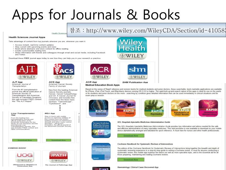 Apps for Journals & Books