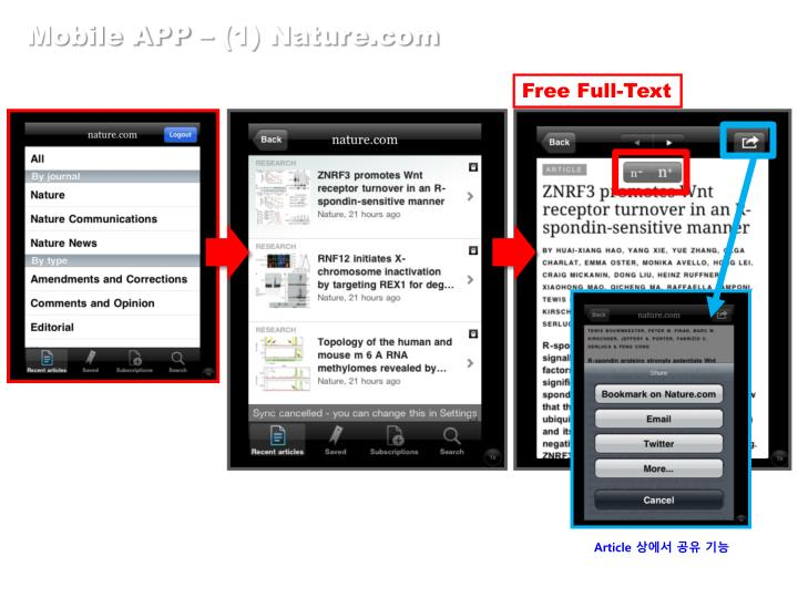 Mobile APP – (1) Nature.com