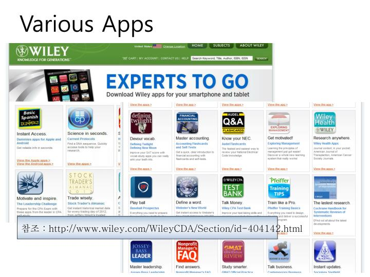 Various Apps