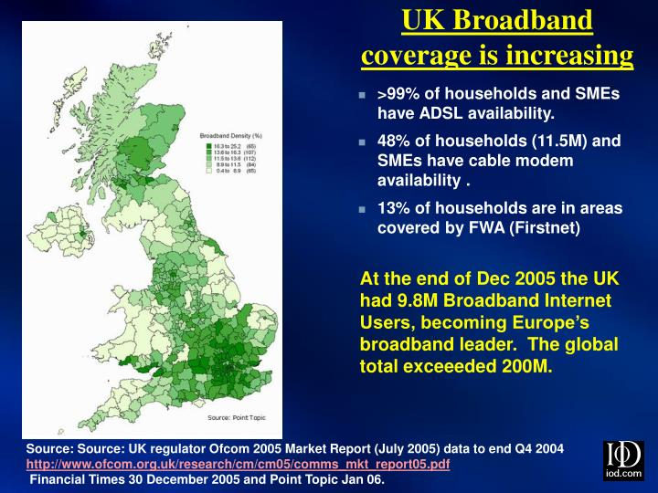 UK Broadband coverage is increasing