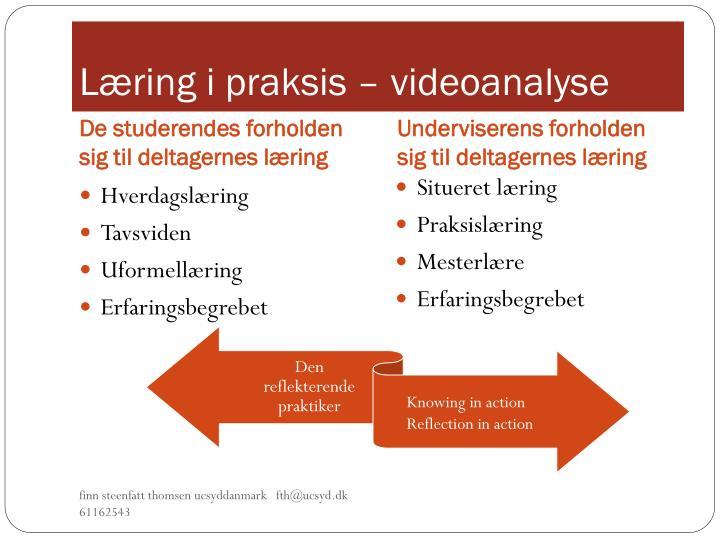 Læring i praksis – videoanalyse