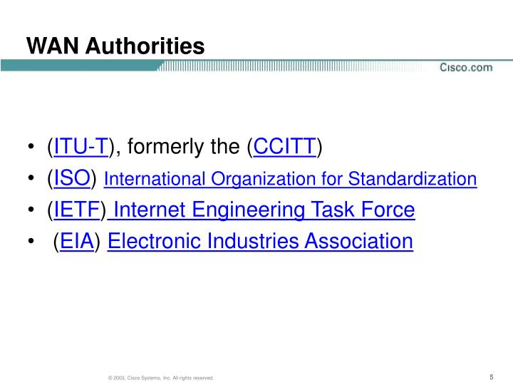 WAN Authorities