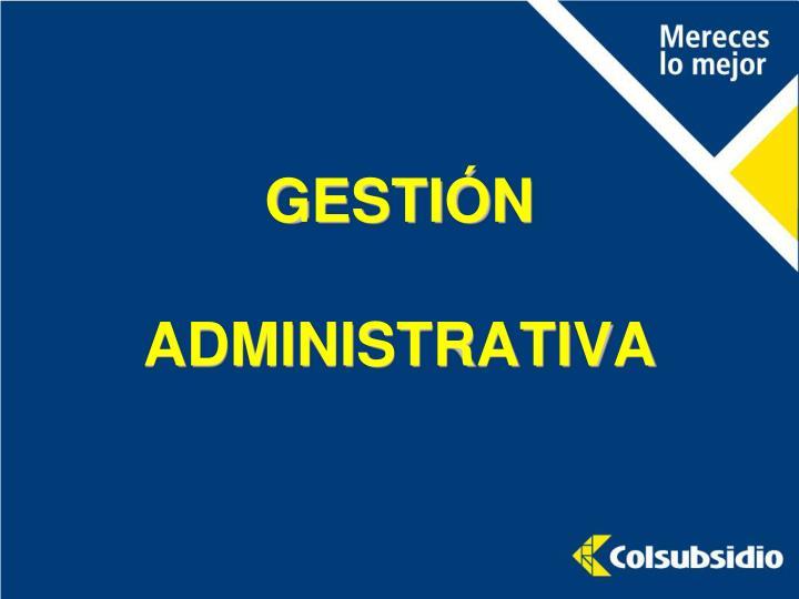 GESTIÓN