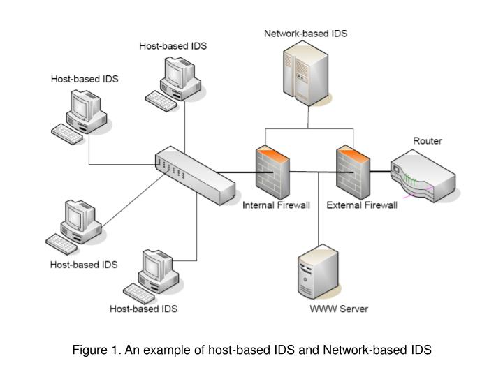 Figure 1. An example of host-based IDS and Network-based IDS
