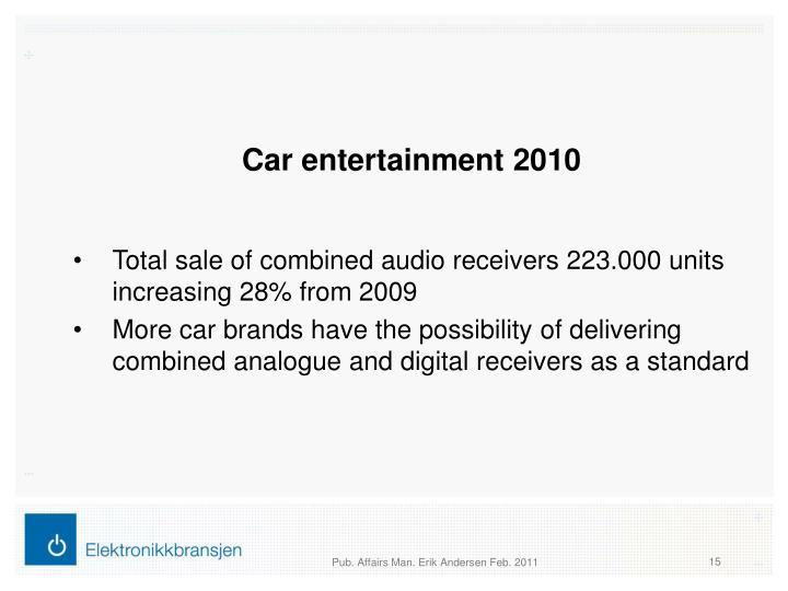 Car entertainment 2010