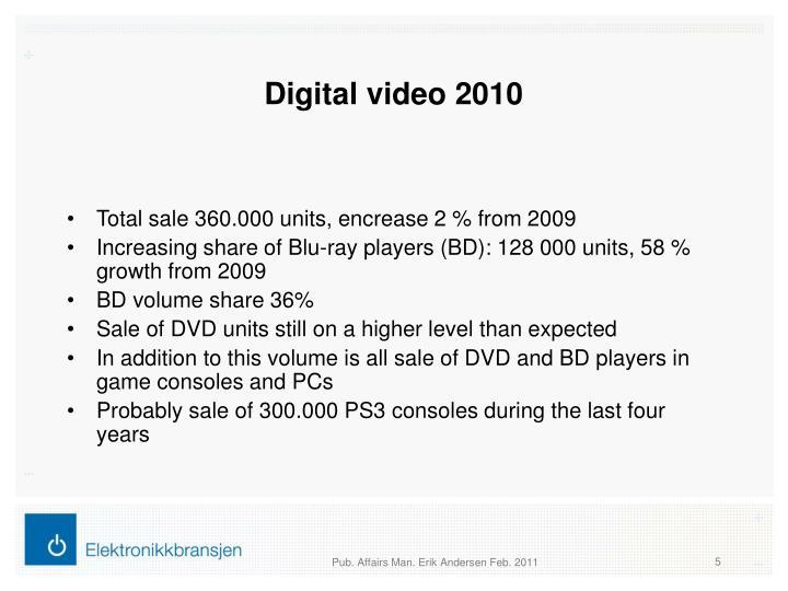 Digital video 2010