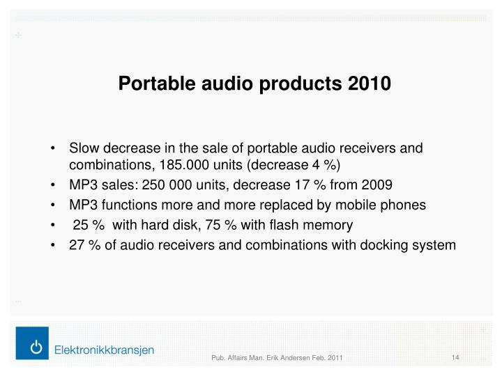 Portable audio products 2010