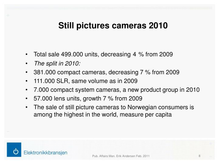 Still pictures cameras 2010