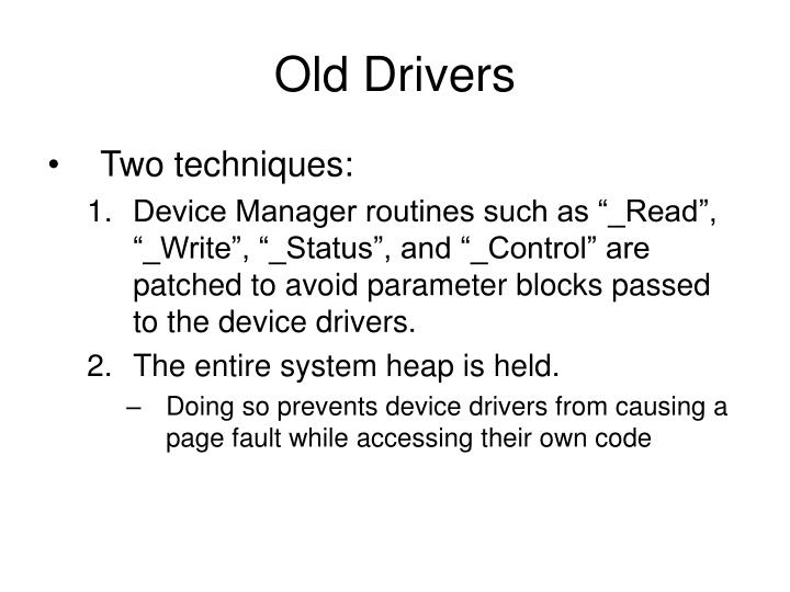 Old Drivers