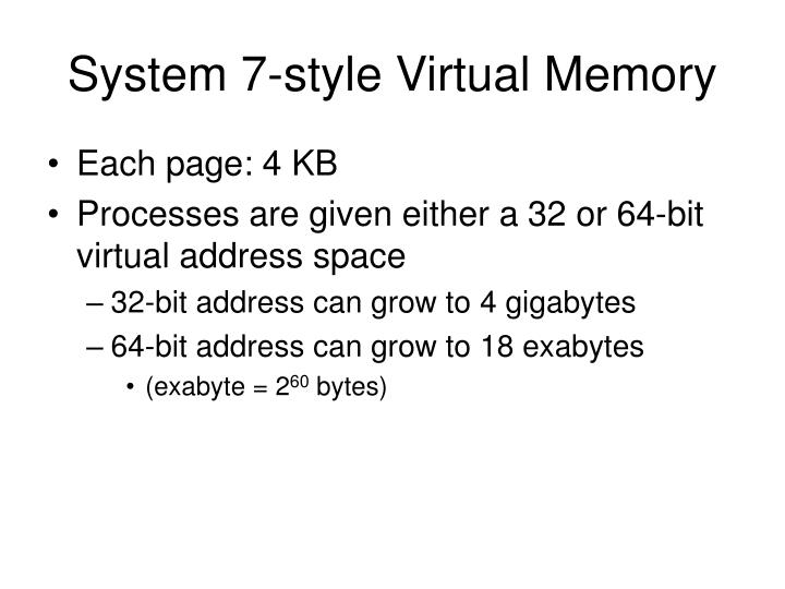 System 7-style Virtual Memory