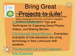 bring great projects to ilife
