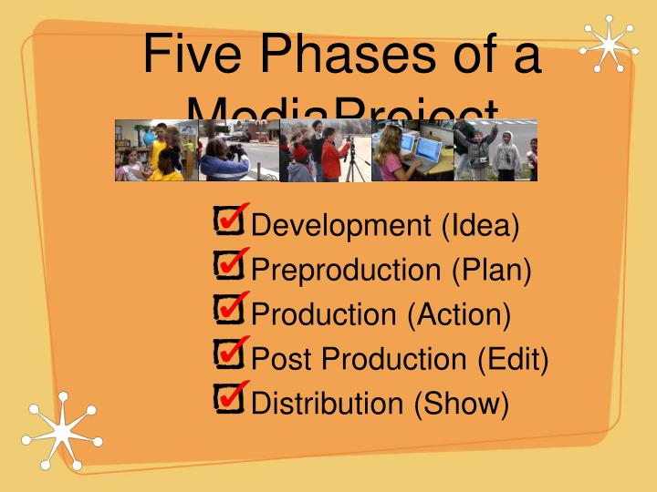 Five phases of a mediaproject