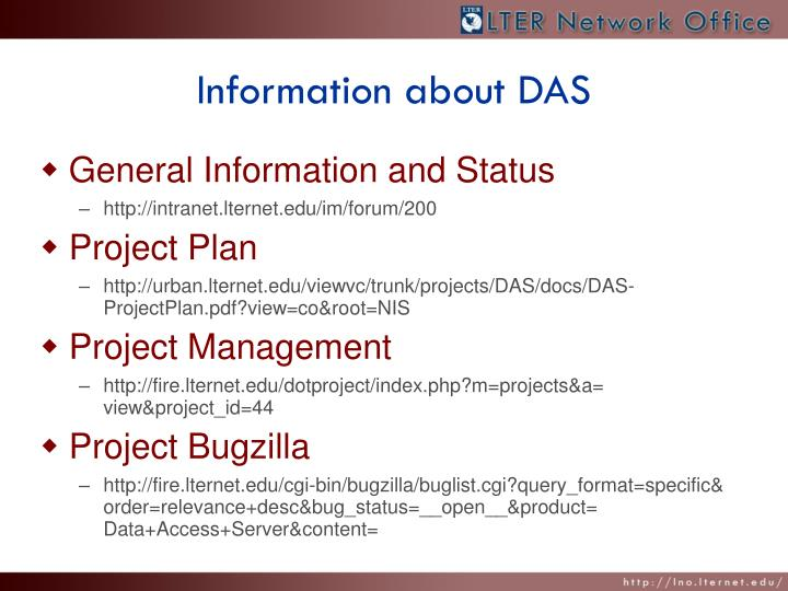 Information about DAS