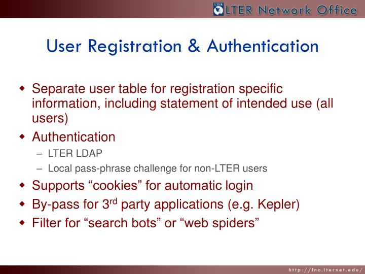 User Registration & Authentication