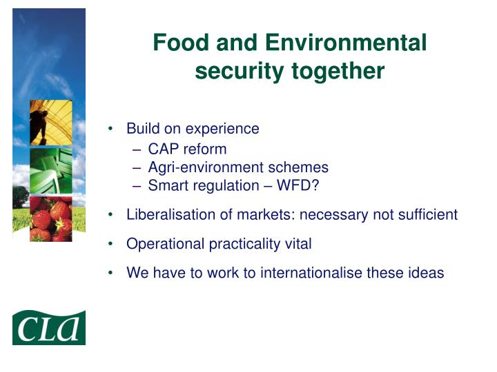 Food and Environmental security together