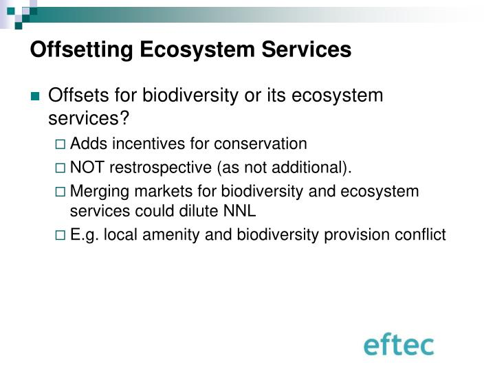 Offsetting Ecosystem Services