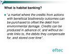 what is habitat banking