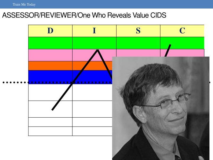 ASSESSOR/REVIEWER/One Who Reveals Value CIDS