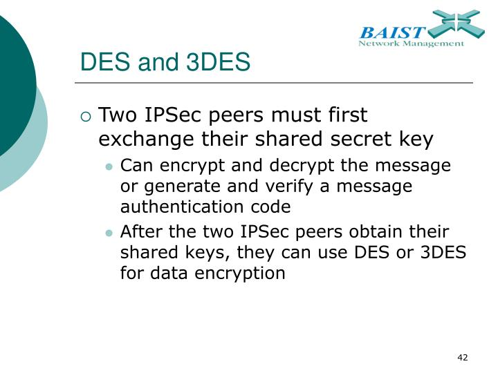 DES and 3DES