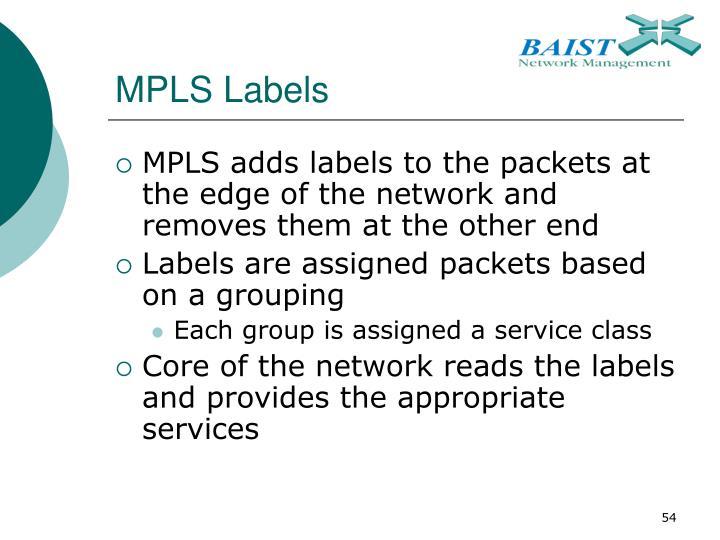 MPLS Labels