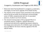 cathi proposal cryogenics accelerators and targets at hie isolde