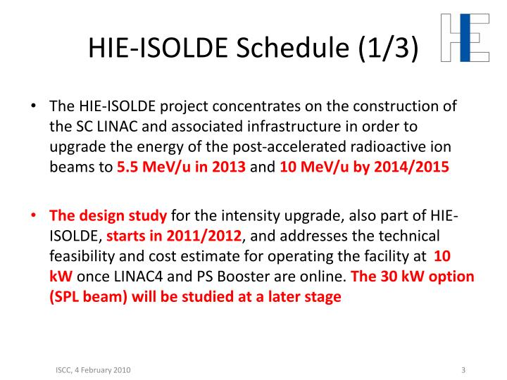 Hie isolde schedule 1 3
