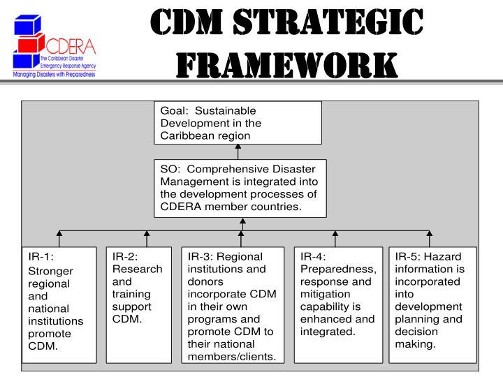 CDM STRATEGIC FRAMEWORK