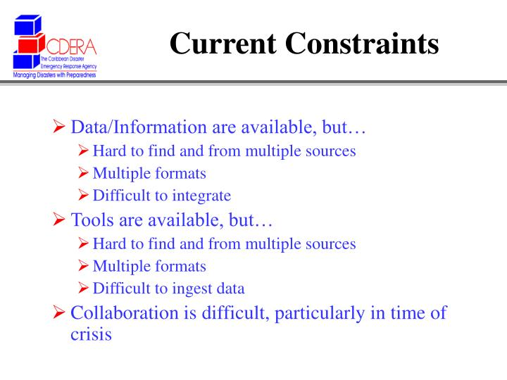Current Constraints
