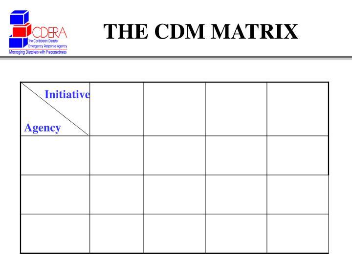 THE CDM MATRIX