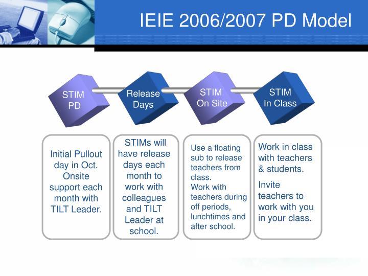 IEIE 2006/2007 PD Model