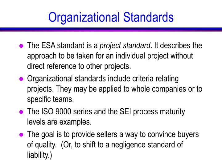 Organizational Standards