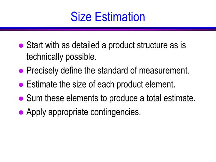 Size Estimation