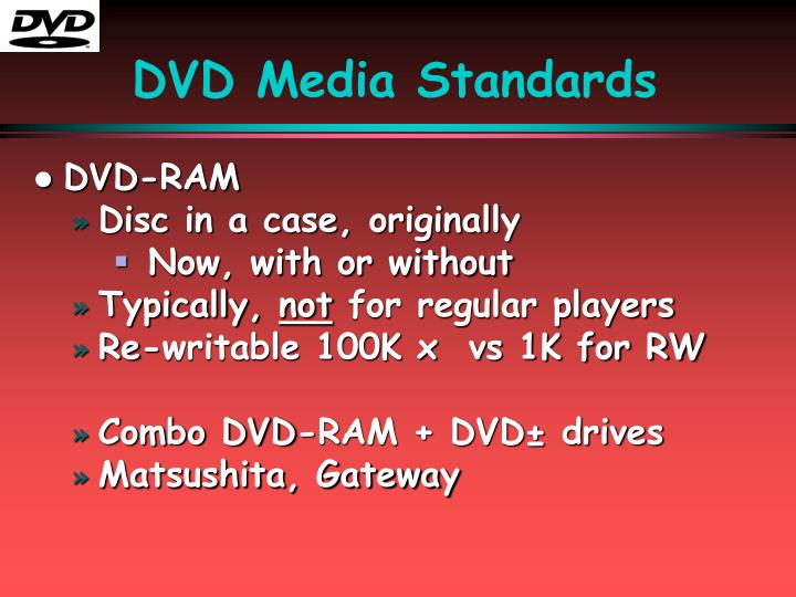 DVD Media Standards