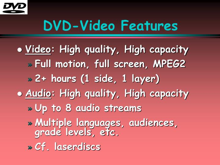 DVD-Video Features