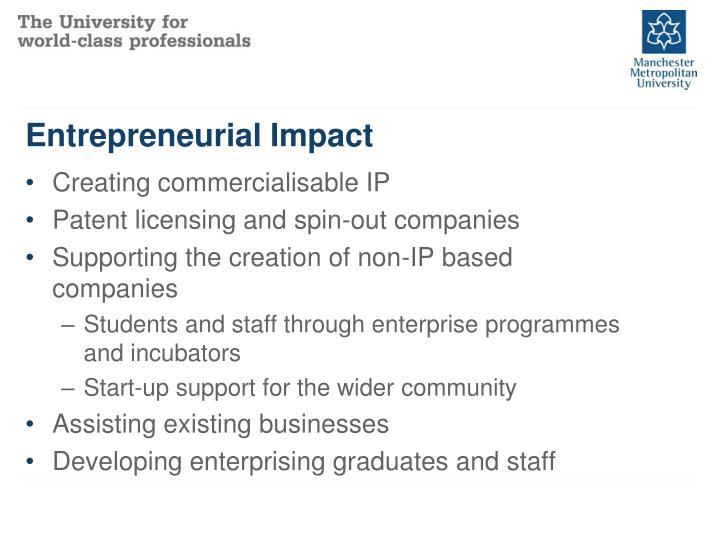 Entrepreneurial Impact