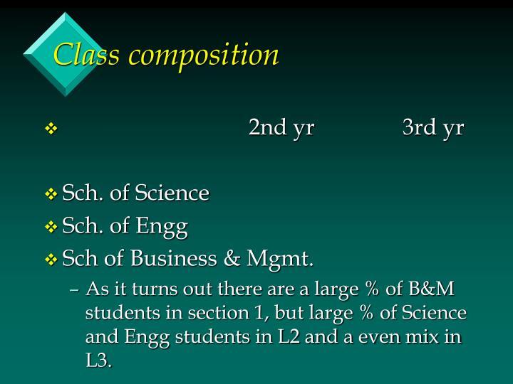Class composition