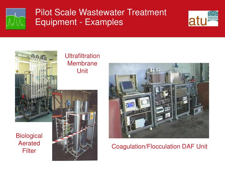 Pilot Scale Wastewater Treatment