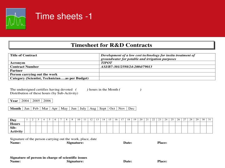 Time sheets -1