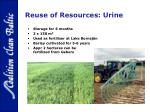 reuse of resources urine