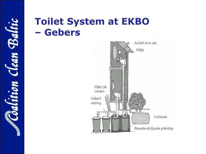Toilet System at EKBO