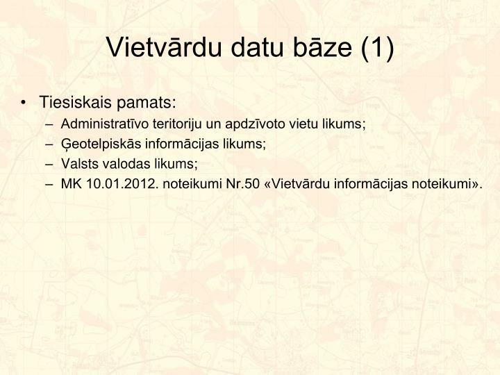 Vietvārdu datu bāze (1)
