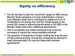 equity vs efficiency