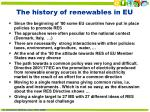 the history of renewables in eu
