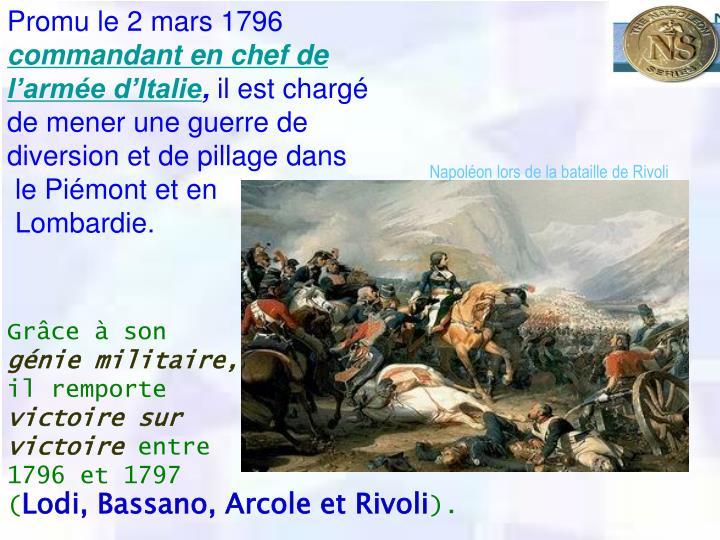 Promu le 2mars 1796