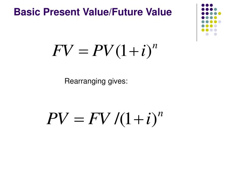 Basic present value future value