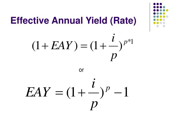 Effective Annual Yield (Rate)