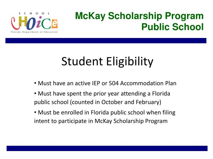 McKay Scholarship Program Public School